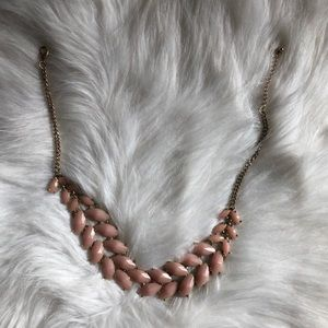 Pale Pink Staple Necklace